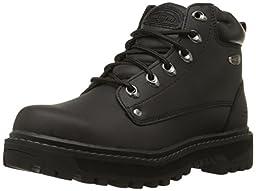 Skechers USA Men\'s Pilot Utility Boot,Black,13 M US