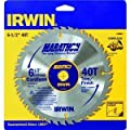 Irwin Tools 14023 6-1/2-Inch by 40 Teeth Trim/Finish, 5/8-Inch Arbor, Carded