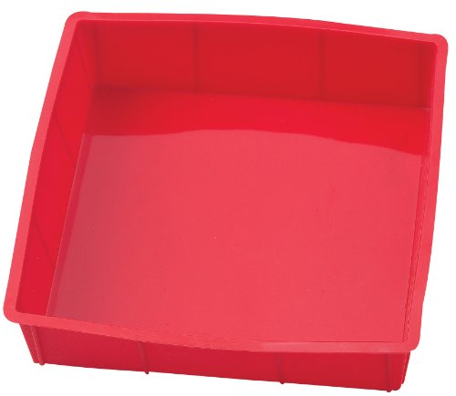 HIC Essentials Silicone Square Cake Pan, 9 by 9-Inch
