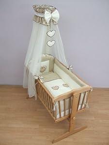 10 Piece Crib Baby Bedding Set 90x40cm Fits Swinging