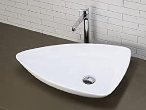 Triangle Sink : Florentino Triangle Counter Top Bathroom Sink Wash Basin Compact ...