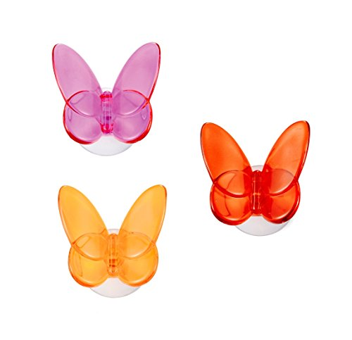 outlook-design-italia-vhb0200200-butterfly-set-de-3-ganchos-con-ventosa