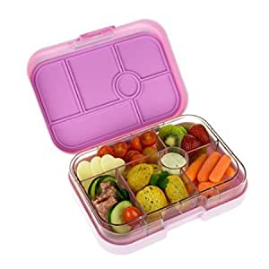 yumbox leakproof bento lunch box container pink lemonade for kids toys games. Black Bedroom Furniture Sets. Home Design Ideas