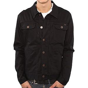 LRG Core Collection Denim Men's Fashion Jacket - Triple Black Wash from LRG