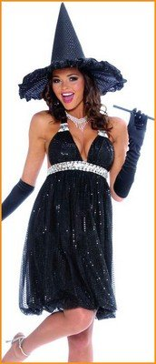 Womens Halloween Costumes Hollywood Witch Costume