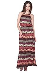 Purys Women's Maxi Dress (E-150649SP-1302_Multi Black Red_M)