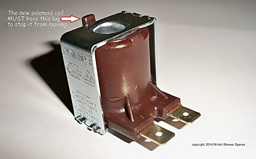 Triton electric shower just stopped? NO WATER? Low pressure light on ? This Solenoid coil restores the water. Fits ALL Triton electric & power showers