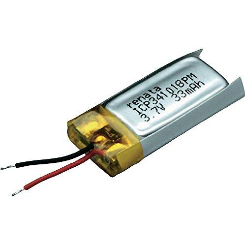 Accu lithium-polymère 3,7V 35mAh Renata ICP341018PM