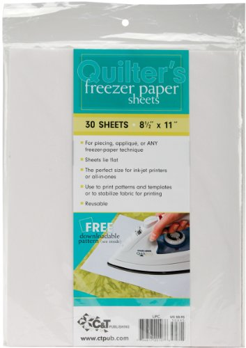 C&T Publishing 20107 Quilter's Freezer Paper Sheet, 8-1/2-Inch x 11-Inch, 30-Pack (E Quilter compare prices)