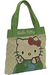 Loungefly Unisex Adult Hello Kitty Earth Tote Tan