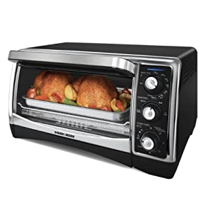 Countertop Oven With Cooktop : ... Oven and Broiler with Nonstick Interior, Black/Silver: Toaster Ovens