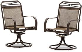 Fabulous Strathwood Rawley Swivel Rocker Dining Arm Chair Set of price