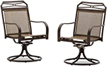 Hot Sale Strathwood Rawley Swivel Rocker Dining Arm Chair, Set of 2