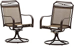 Strathwood Rawley Swivel Rocker Dining Arm Chair, Set of 2