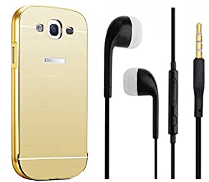 Novo Style Back Cover Case with Bumper Frame Case for Samsung Galaxy Grand 2 G7102 / G7106 Golden + Earphone / Handsfree with 3.5mm jack