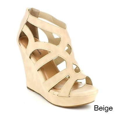 Amazon.com: Top Moda Womens Ella-15 Fashion Wedge Sandals: Shoes