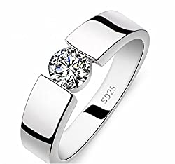 Anvi Jewellers Silver Brass Ring For Unisex