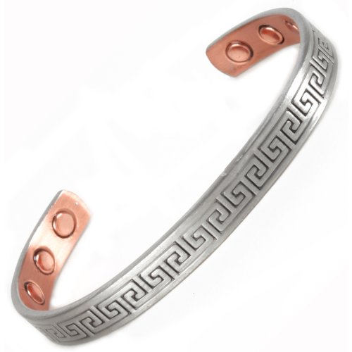 Copper Magnetic Bangle Bracelet - 6 High Strength Magnets - 2 Size Options