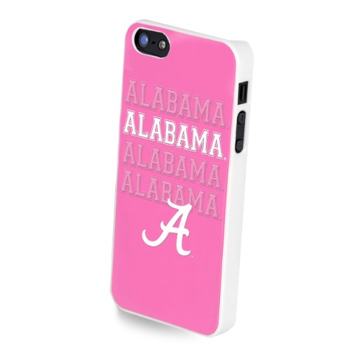 Forever Collectibles Ncaa Team Pink Logo Iphone 5/5S Hard Case - Retail Packaging - Alabama Crimson Tide