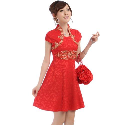 Buluos Fashionable Chinese Wedding Dress Qi Pao