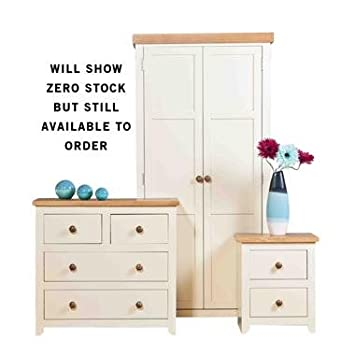 JAMESTOWN 3 PIECE BEDROOM SET COMPRISING A 2 DOOR WARDROBE, 2+2 CHEST OF DRAWER AND A 2 DRAWER BEDSIDE CABINET FROM CENTURION PINE