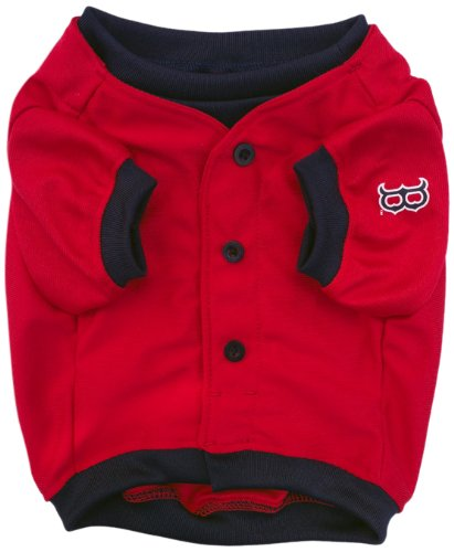 Sporty K9 Red Sox Baseball Jersey for Dogs, Small