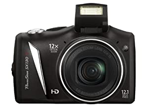 Canon PowerShot SX 130 IS Digitalkamera (12 Megapixel, 12-fach opt. Zoom, 7,5 cm (2,95 Zoll) Display, bildstabilisiert ) schwarz