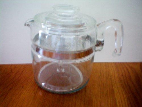 Vintage Pyrex 6 cup Glass Stovetop Percolator Coffee Pot (Pyrex Coffee Percolator compare prices)