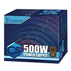 Hydance 500W POWER SUPPLY 80PLUS BRONZE 85% EFFICIENCY HY500CT