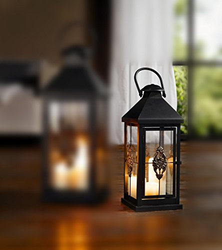 Medium 19 in. Metal European-style Hanging Candle Lantern Product SKU: CL229314