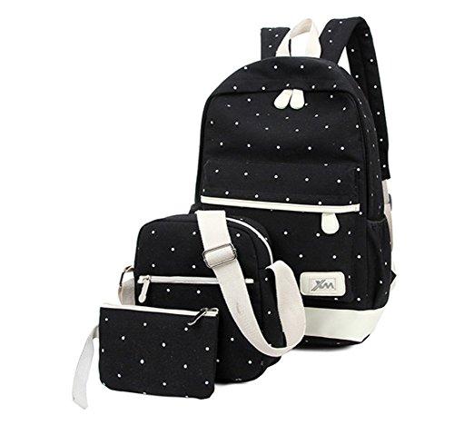 YAAGLE-Canvas-School-Student-Shoulder-Bag-Backpack-Rucksack-for-Boys-and-Girls-3pcs