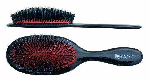 Medium Oval Cushion Brush, SHE by SOCAP.USA, Made in Italy (Socap Hair Brush compare prices)