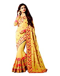 Offo Deals Partywear Traditional Yellow Women Saree ss-9007