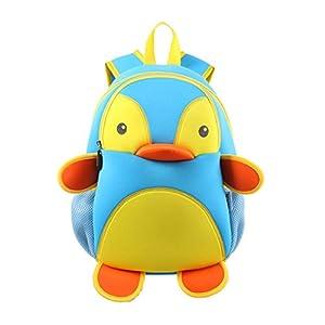 Nohoo® Kids penguin Backpack 3D Cute Zoo Cartoon School Boys Girls Bags