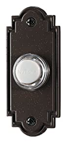 NuTone PB15LBR Wired Lighted Door Chime Push Button, Oil-Rubbed Bronze Finish
