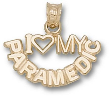 I Love My Paramedic Pendant - 10KT Gold Jewelry