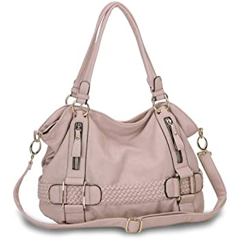 Add some chic to your style with this beautiful and practical weave pattern belt accents bowler handbag purse. The man-made leather of this lovely soft shopper hobo goes effortlessly with any outfit and is the perfect thing to add some extra flair to...