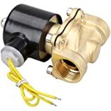 "Vktech 110V AC 3/4"" Electric Solenoid Valve Water Air Fuels N/C Gas Water Air"