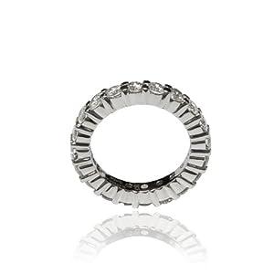 3.80 Carats Natural Round Diamonds Eternity Anniversary Band Ring 14k White Gold
