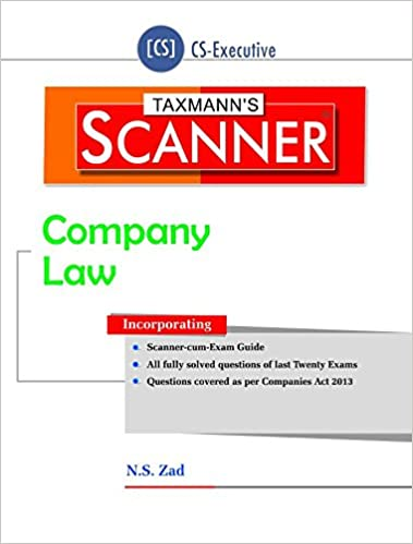 Scanner -Company Law (CS-Executive) (June 2016 Edition)
