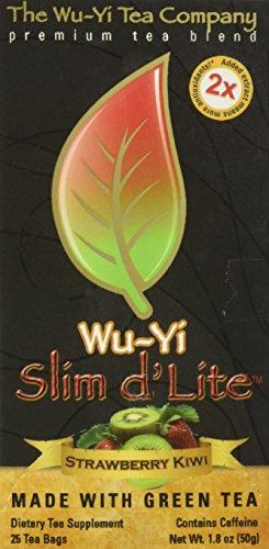 The Wu Yi Tea Company Slim d'Lite Green Tea, Strawberry Kiwi