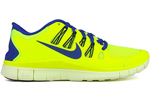 Nike Mens Free 5.0+ Running Shoes Volt/Hyper Blue/Black 579959-740 Size 8