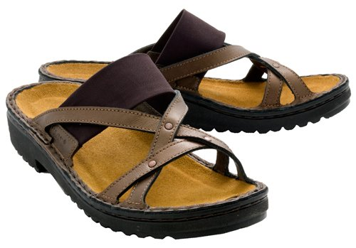 Naot Womens Beatrice, 38, Copper with Brown Stretch