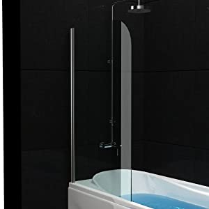 badewannenabtrennung echtglas trennwand ca 75 x 130 cm badewanne duschabtrennung aus. Black Bedroom Furniture Sets. Home Design Ideas