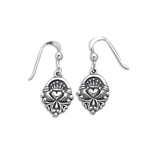Claddagh Earrings on French Wire