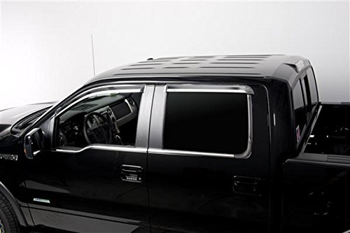 2004-2012 Titan 4DR Crew Cab Vent Visor Rain Guards 4-Piece Set