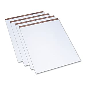 Easel Pad, 1 In Sq, 27 x 34 In, White, PK 4
