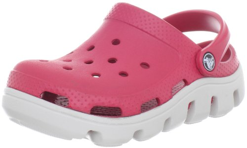 Crocs Duet Sport Clog ,Cranberry/Pearl White,2 M US Little K