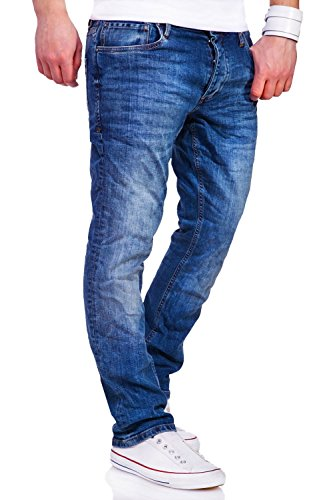 Jack & Jones Jeans Straight CLARK Hose [Blau, W32/L30]