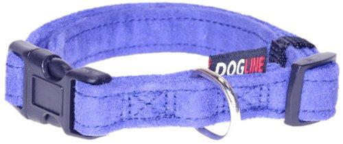 Dogline 13 to 21-Inch Comfort Microfiber Soft Padded Pet Puppy Dog Collar with Nylon Reinforcement, Medium, 3/4-Inch Wide, Purple pet attire sparkles dog collar 8 12in pink